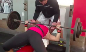 Meagan Pollock Bench Press 190#