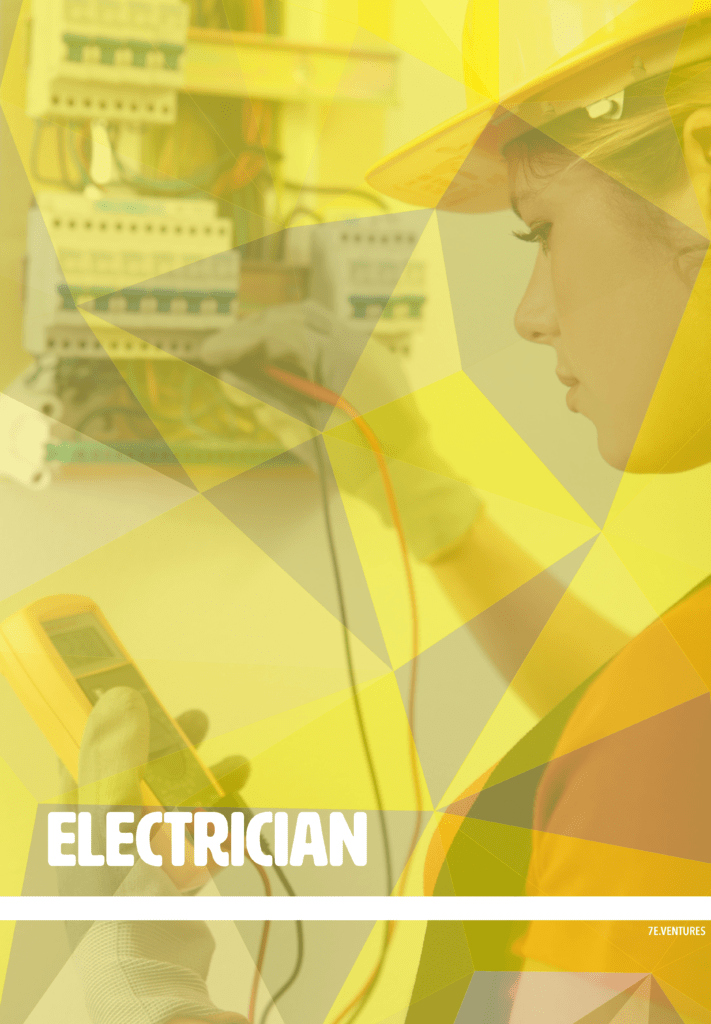 Nontraditional Career Poster: Electrician