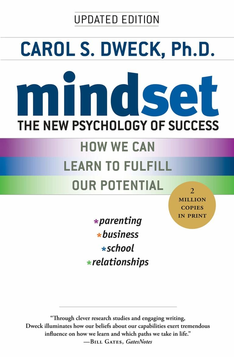 Mindset by Carol Dweck book cover
