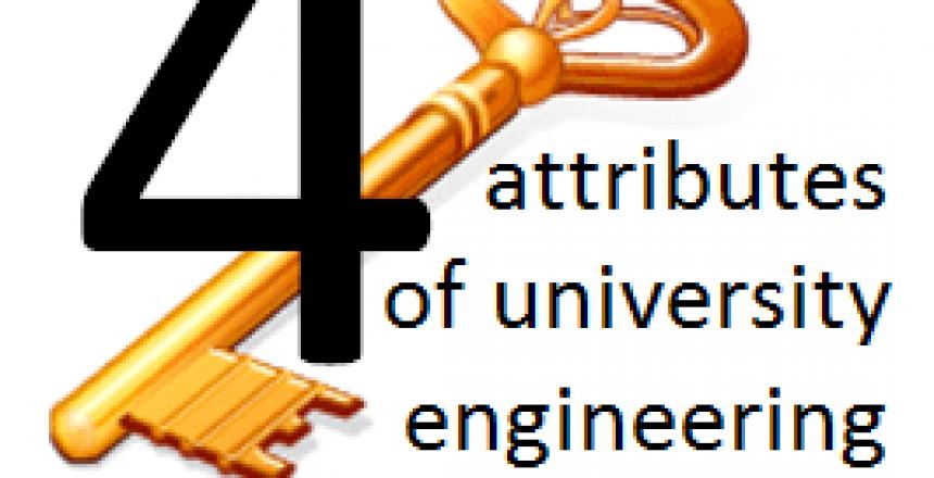 Four Key attributes of University Engineering Education Programs